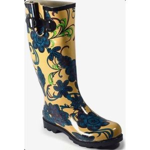 Corky's Sunshine Rainboot Size 8 NWT